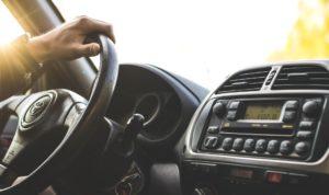 Man driving after treating sleep apnea in Gahanna.